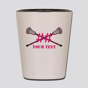 Lacrosse Pink Camo Sticks Crossed Personalize Shot