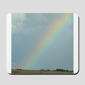 Rainbow over a Field Somewhere Mousepad