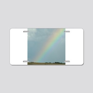 Rainbow over a Field Somewhere Aluminum License Pl