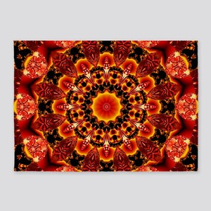 Firewalk Abstract 5'x7'Area Rug