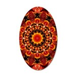 Firewalk Abstract 20x12 Oval Wall Decal