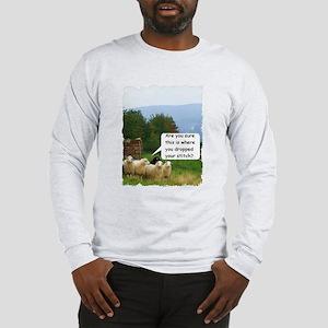 Drop Stitch Sheep Long Sleeve T-Shirt