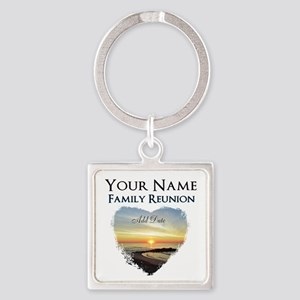 FAMILY REUNION FUN Square Keychain