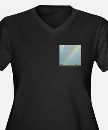 Rainbow over a Field Somewhere Women's Plus Size V