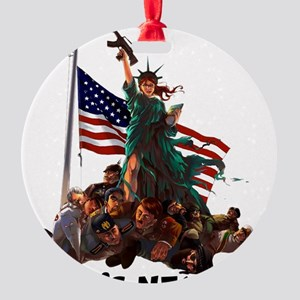 Who's Next 'MURICA Round Ornament