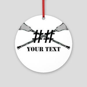 Lacrosse Camo Sticks Crossed Personalize Ornament