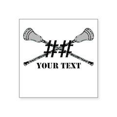 Lacrosse Camo Sticks Crossed Personalize Sticker