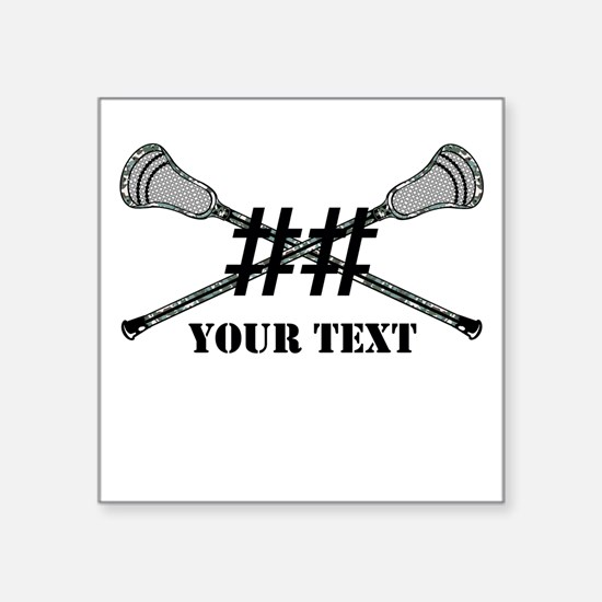 Lacrosse Camo Sticks Crossed Personalize Sticker