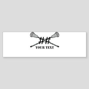 Lacrosse Camo Sticks Crossed Personalize Bumper St