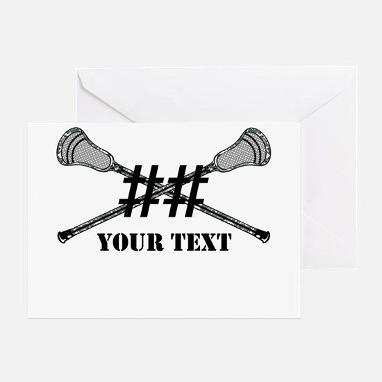Lacrosse Camo Sticks Crossed Personalize Greeting