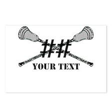 Lacrosse Camo Sticks Crossed Personalize Postcards