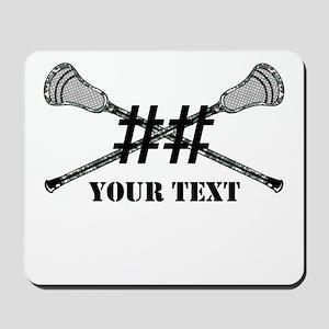 Lacrosse Camo Sticks Crossed Personalize Mousepad