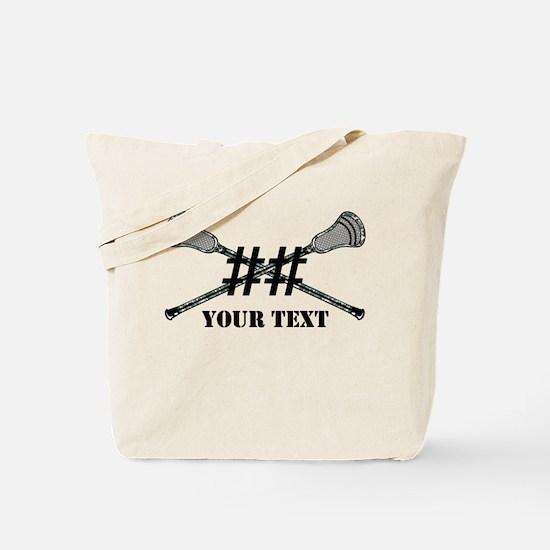 Lacrosse Camo Sticks Crossed Personalize Tote Bag
