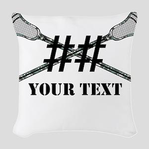 Lacrosse Camo Sticks Crossed Personalize Woven Thr