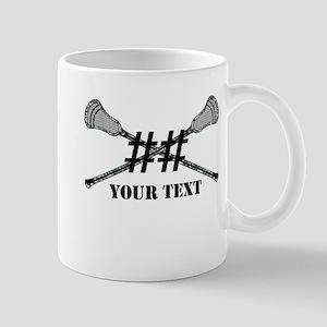 Lacrosse Camo Sticks Crossed Personalize Mugs