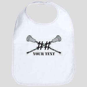 Lacrosse Camo Sticks Crossed Personalize Bib