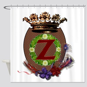 Z-Crest Shower Curtain