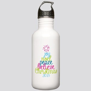 Sassy Christmas Word Tree Water Bottle