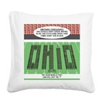 End of Script Ohio Square Canvas Pillow