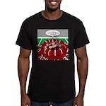 Football Huddle Odor Men's Fitted T-Shirt (dark)