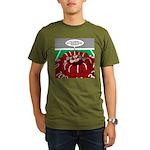 Football Huddle Odor Organic Men's T-Shirt (dark)