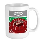 Football Huddle Odor Large Mug