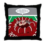 Football Huddle Odor Throw Pillow