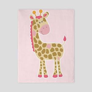 Pink Giraffe Girls Bedding Twin Duvet