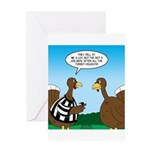 Turkey Referee Greeting Card