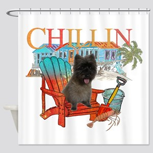 Cairn Terrier Chillin' Shower Curtain