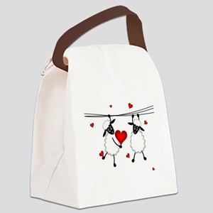 Hang on to Love Sheep Canvas Lunch Bag