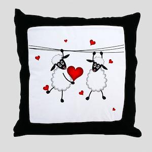 Hang on to Love Sheep Throw Pillow
