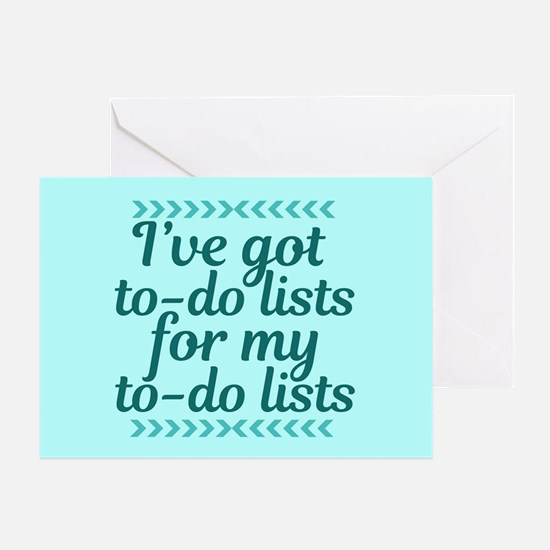 To Do Lists Greeting Card