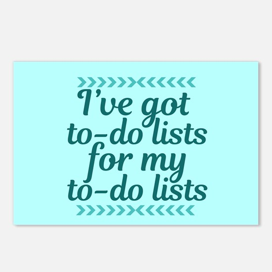 To Do Lists Postcards (Package of 8)