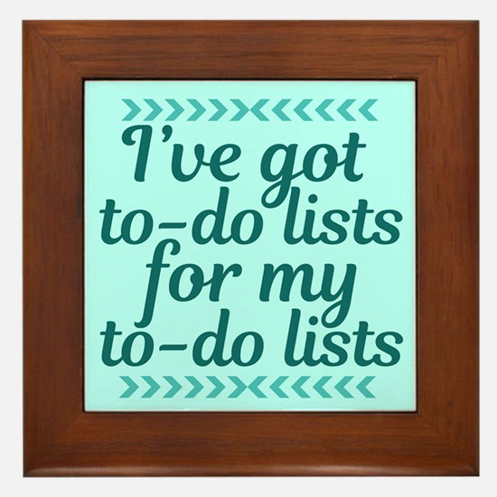 To Do Lists Framed Tile