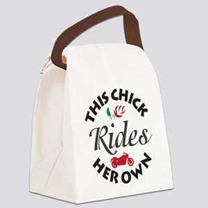Circular This Chick Rides Her Own Canvas Lunch Bag