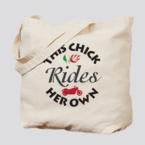 Circular This Chick Rides Her Own Tote Bag