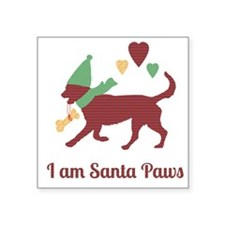 I am Santa Paws Sticker