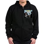 Bald Movie Villains Zip Hoodie (dark)