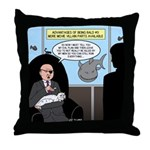 Bald Movie Villains Throw Pillow
