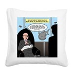Bald Movie Villains Square Canvas Pillow