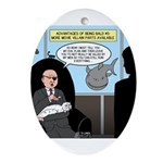 Bald Movie Villains Ornament (Oval)