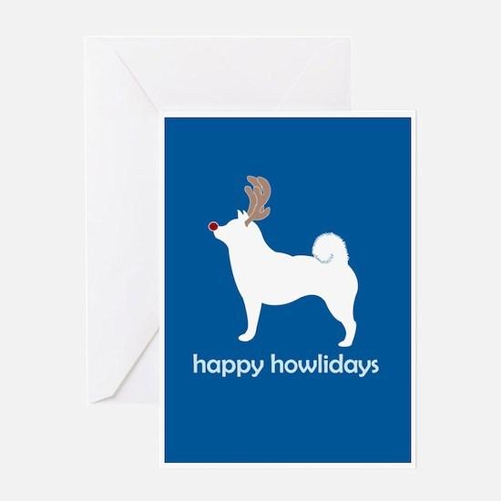 "Shiba Inus ""Happy Howlidays"" Greeting Cards (Packa"