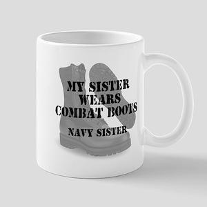 Navy Sister wears CB Mugs
