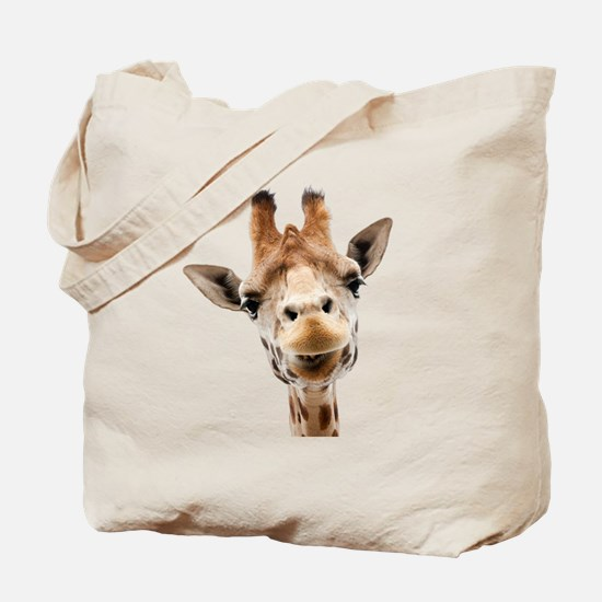 Giraffe Face New Profile Tote Bag
