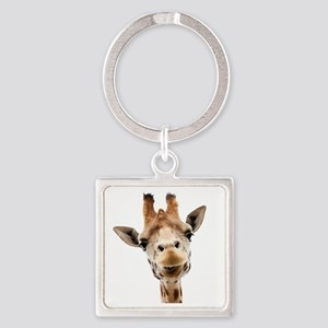Giraffe Face New Profile Square Keychain