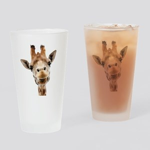 Giraffe Face New Profile Drinking Glass
