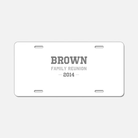 Personal Surname Family Reunion Aluminum License P