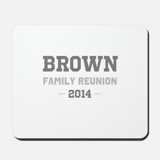 Personal Surname Family Reunion Mousepad