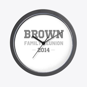 Personal Surname Family Reunion Wall Clock